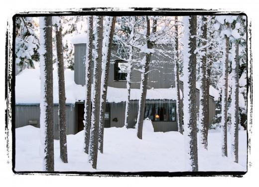 sunriver house in winter