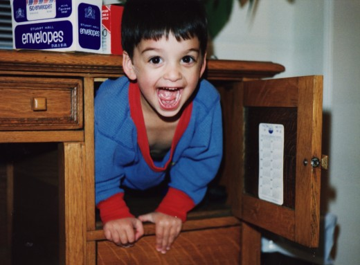 I used to hide in my Dad's desk.