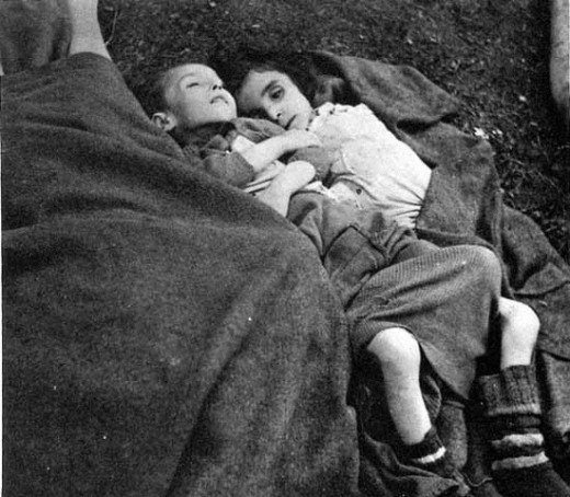 child survivors of Bergen Belsen, 1945