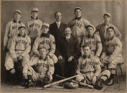 Michael T. McGreevy with is amateur baseball team Nuf Ced.