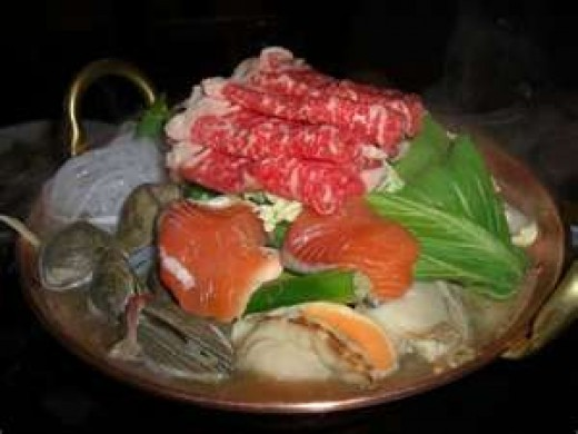 typical Chanko-Nabe ingredients