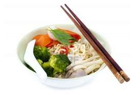 Chopsticks with bowl