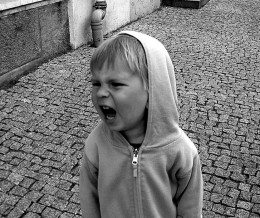 Unlike this picture, most temper tantrums will appear in explodingly vivid colors!