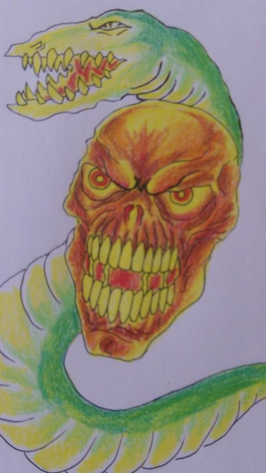 Draw tattoo art that sells. Art by Wayne Tully.