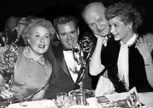"""I Love Lucy"" cast celebrating at the Emmy Awards"