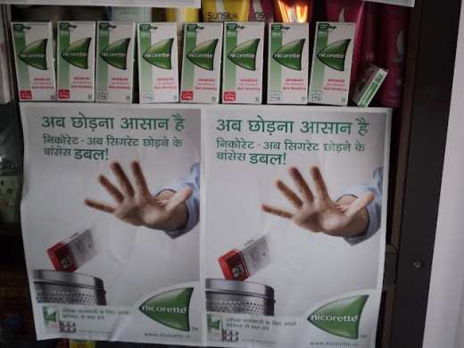 Stop smoking with Nicorette - Shot in a chemist shop in Rajouri Garden