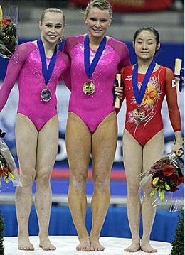 Gymnast with Knock Knees.