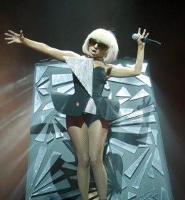Lady Gaga with Knock Knees.