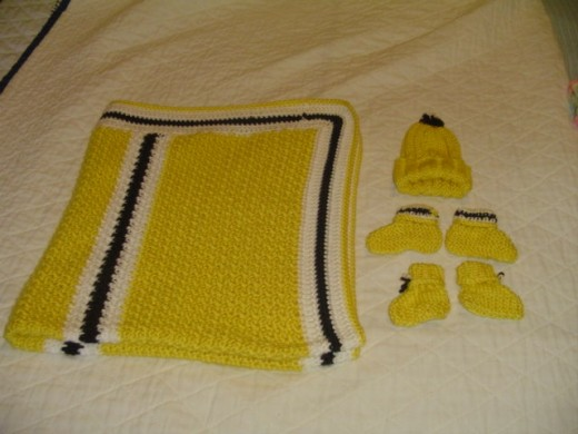 Sample of my baby items for the University of Iowa Hospitals Preemie Project