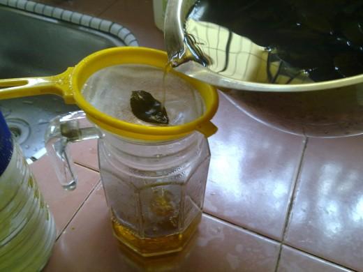 strain the tea