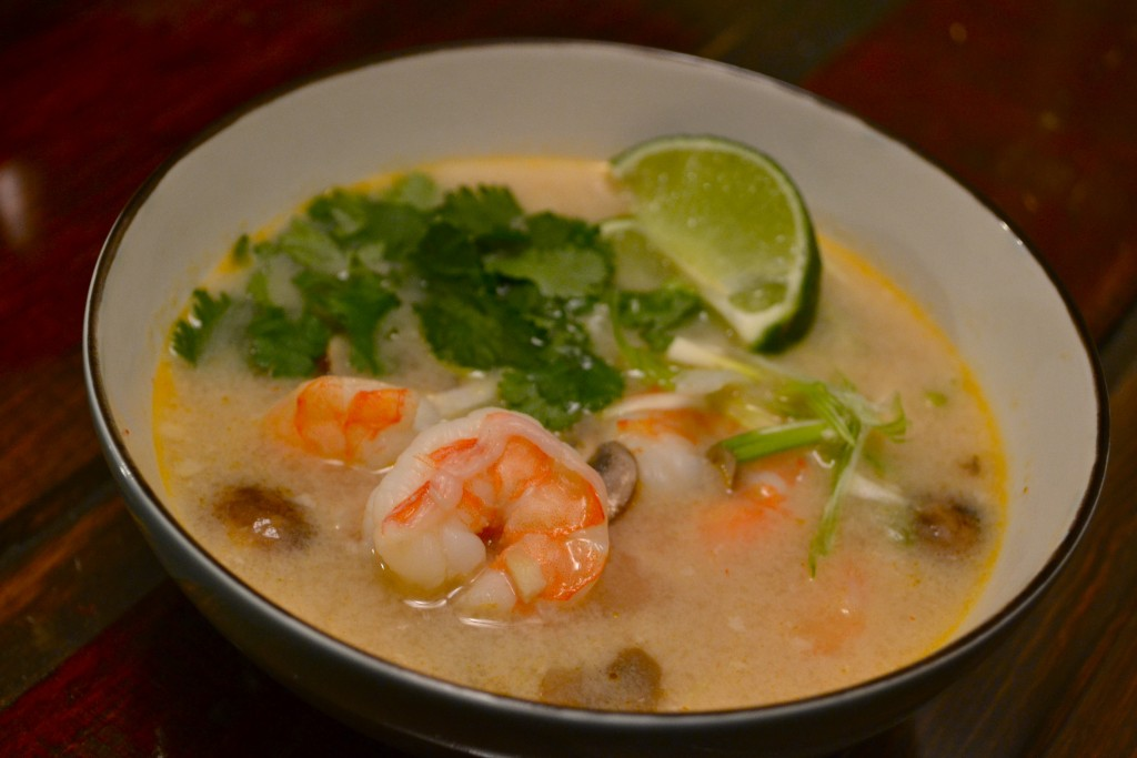 Spicy Coconut and Shrimp Soup