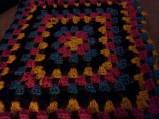 made this super easy afghan in 2 hours with bulky yarn (pic taken at night)