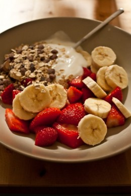 mix bananas with berries. Takes away the acid reflux, duh Ash.