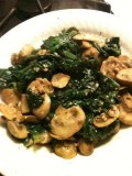 How To Cook Easy Garlic Mushrooms & Spinach Side Dish