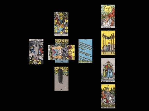 This reading and many others are explained in full in The Language of Tarot