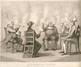 A eigtheen century European smoking club.