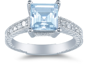 Aquamarine rings add an enticing charm to your wedding jewelry.