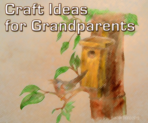 A birdhouse is a great craft idea for Grandparents!