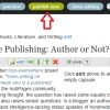 Online Publishing: Author or Not?