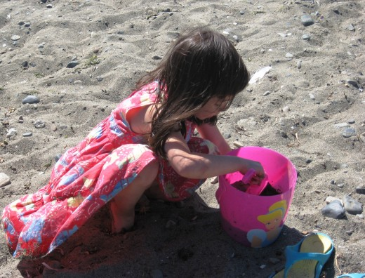 Our granddaughter at the Beach: Healthier Choices seem almost natural to children...