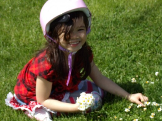 Picking Daisies for her Mama... a healthy lifestyle choice that practically every little child makes...