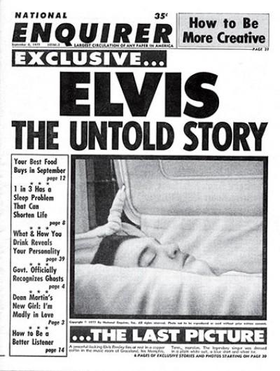 National Enquirer publish photo of Elvis Presley after his death