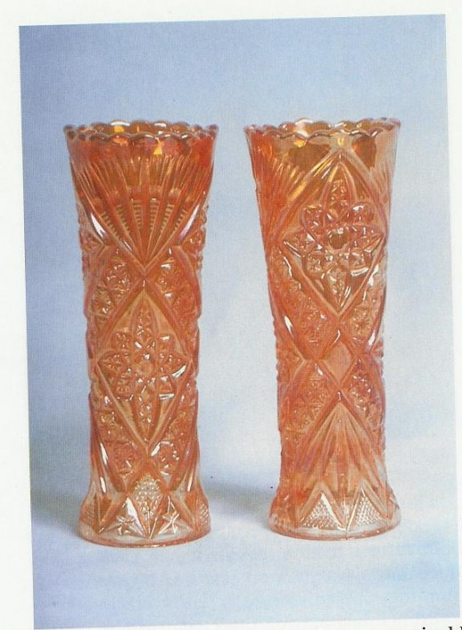 "This pattern is called Star and Fan. The vases stand 9 1/2"" tall."