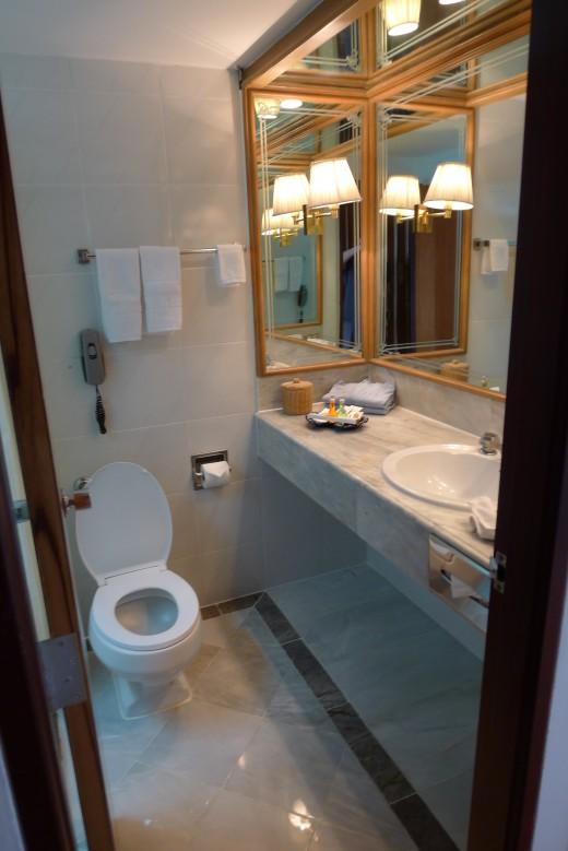 Good sized bathroom.