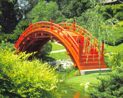 Huntington Museum in Pasadena California - Japanese Garden and Bridge