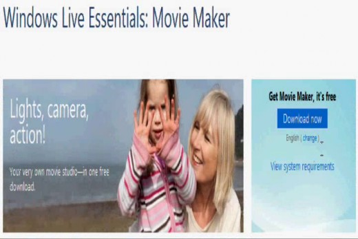Navigate to the Windows Live Movie Maker download Web page.