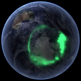 Australian Aurora Borealis shows up quite clearly in this NASA photo and is just one sign of the continued Polar Shift.