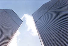 The Twin Towers of the World Trade Center complex: This photograph may not be reproduced, copied, or used for any purpose without the written permission of the photographer/author.