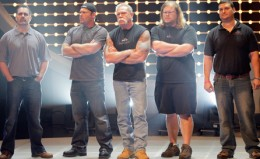 Center from Right to Left, Paulie, Paul, and Mikey. (Photo courtesy of NBC)