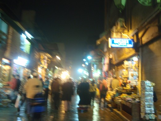 Khan El Khalili at night