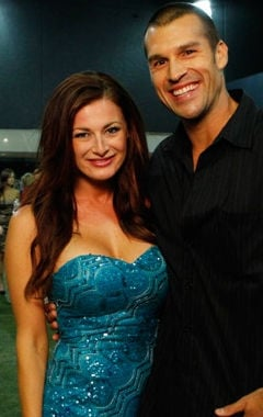 Winner, Rachel Reilly, with fiancé Brendan.