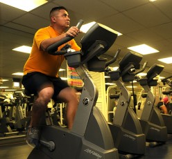 Is there an app for an iPod Touch that can be used on a stationary bike?