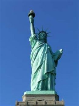 Statue of Liberty Enlightening the World , popularly known as the Statue of Liberty