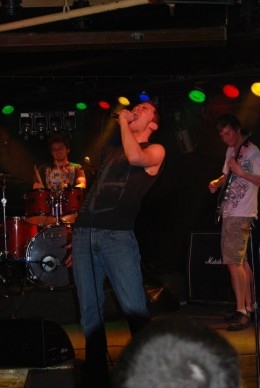My first concert, rocking out on stage