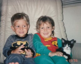 Batman and Robin with their sidekick Sassy.