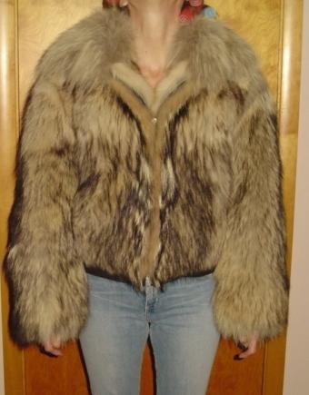 This Alaskan wolf fur jacket went to St. Petersburg, Russia.