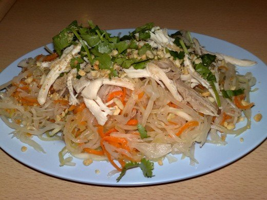 Vietnamese spicy cabbage and chicken salad (Goi Bap Cai Ga)