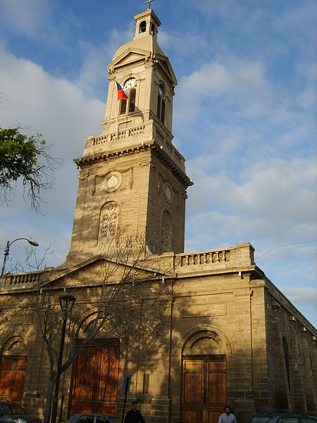 A view of the Cathedral, La Serena, Chile