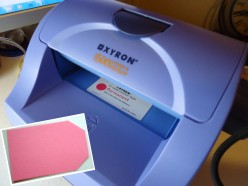 Xyron 500 and paper tag