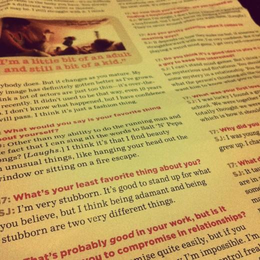 Seventeen Magazine article about the wonderful Scarlett Johansson.