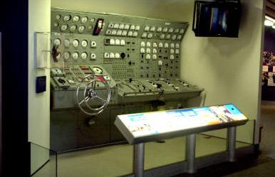 This is the real photo which is actually of a submarine control panel.