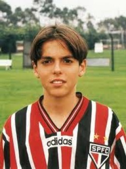 A younger Kaka when he played for  Sao Paulo FC.