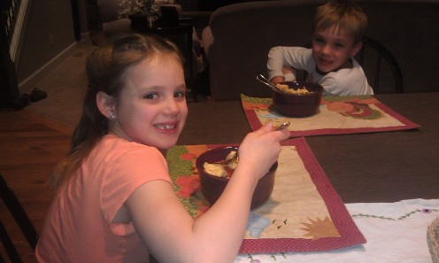 My twins love Garlic Cheese Pasta!