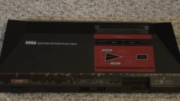 A top view of the Sega Master System console.