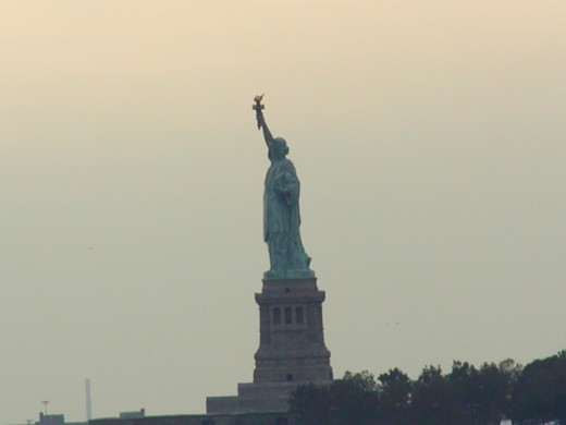 Statue of Liberty taken from the financial center   © Eric Heifetz