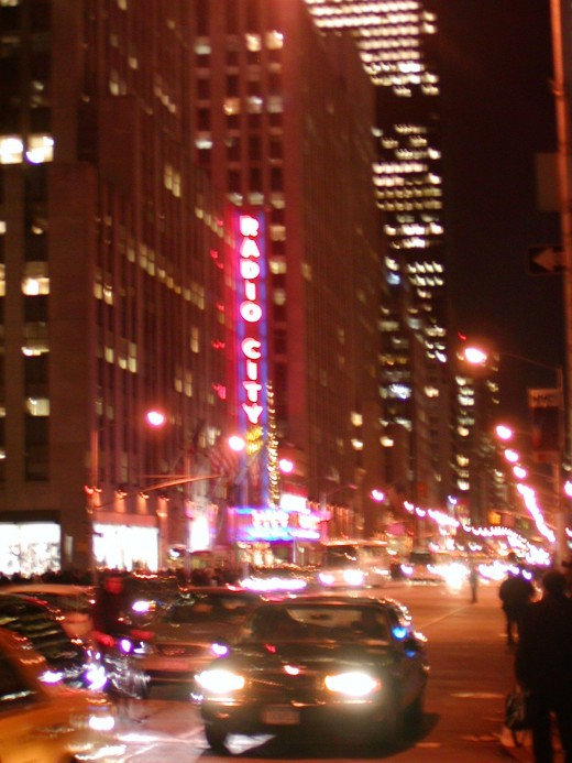 a bit fuzzy, though looks cool, with Radio City Music Hall in the background    © Eric Heifetz